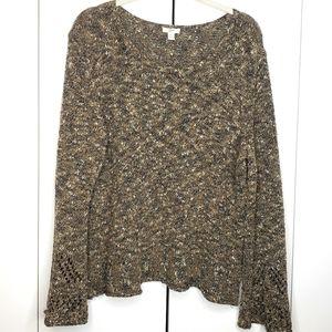 J. Jill Bell Sleeve Pullover Sweater